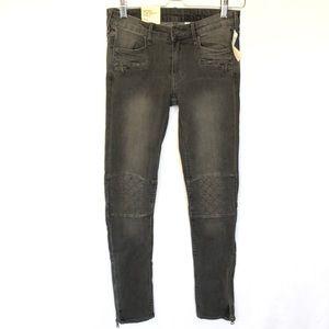 NWT H&M &Denim Black Skinny Jeans Ankle 26 Zipper